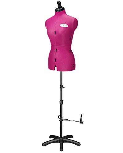 Deubl Schneiderpuppen Damen verstellbar Celine Multi (Gr.S/36-44) 8-teilig komplett einstellbar, 5-Bein Fuß, Schneiderbüste mit 12 Verstellrädchen, Rockabrunder, Rückenlängenverstellung