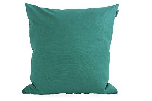 Linum Kissenhülle ANNABELL A10 grün 50cm x 50cm uni 100% glatte Baumwolle mit Reißverschluss