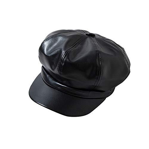 ZOODQ Sombrero de señora Beret Estilo francés para Mujer Estilo francés clásico Boinas de Cuero Gorros Retro Gorro para Mujer Sombreros Baker Boy Flat Caps Newsboy Invierno cálido Sombrero para niñas