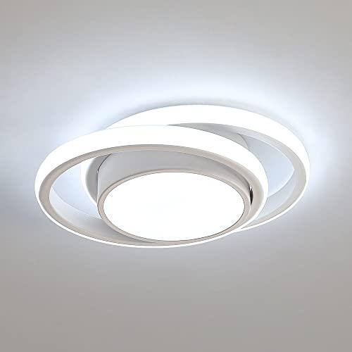 Comely Plafon Led Techo, 32W Moderna Lámpara de Techo LED, 2500LM Blanco Frío 6000K, Redondo Luz de Techo del para Corredor...