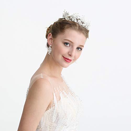 Lurrose - Diadema de perlas para novia, accesorio para vestido de novia...