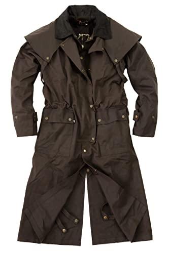 Australian Style Drover Outdoor - Cera a olio con fodera interna rimovibile, colore: Marrone, marrone, XXL