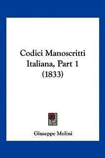 Codici Manoscritti Italiana, Part 1 (1833)