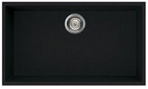 Smeg VZUM79N - Fregadero (Sintético, Negro, 720 x 400 mm, 76 cm, 44 cm, 22 cm)