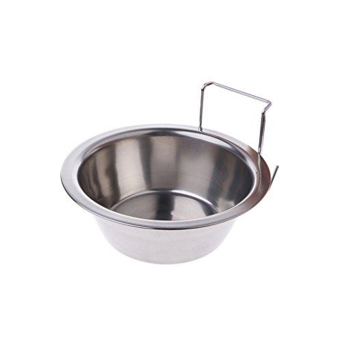 Dabixx Pet Food Waterschaal, roestvrij staal, kooi, kop, vogel, kat hond puppy's levensmiddelen, water, kom, haak