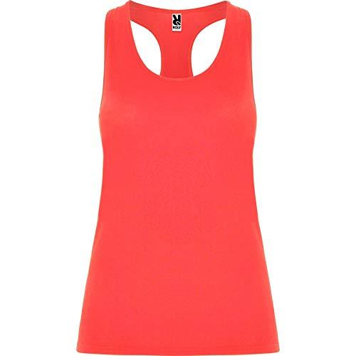 ROLY Camiseta Aida 6656 Mujer Tirantes Coral FLÚOR 234 S