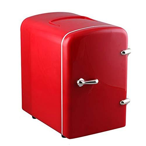 FTNJG Mini Frigorífico, 12 V/220 V Nevera Cosmeticos Pequeña Tanto en Frío como en Calor Compacto Uso Doble para Casa, Dormitorio, Coche, Vacaciones