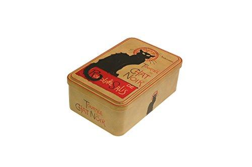 French Classics - Caja metálica, diseño de Chat Noir (18 x 12 x 7 cm)