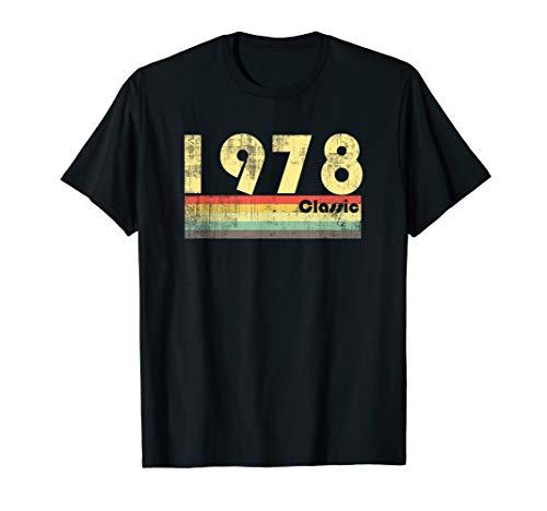 70er Jahre-Stil zum 40. Geburtstag 1978, Vintage, Retro T-Shirt