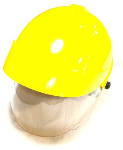 Casco Elmo Amarillo Protector Completo de Visera Sicor Profesional antiincendios Boschivo Emergencia técnico protección Civil Covin19 EDL-01 Art. 05050/010/020