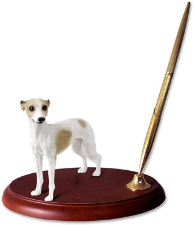 Whippet Dog Desk Set - Tan & White by Conversation Concepts