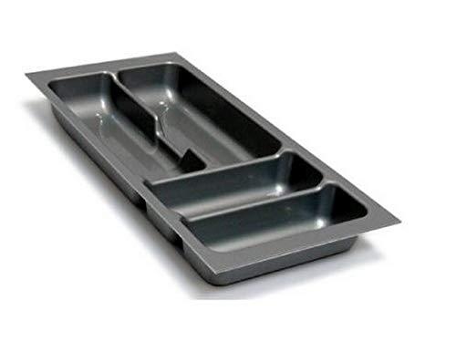 Besteckeinsatz Schubladeneinsatz Besteckkasten Comfort Universal | für 30er Schubladen | zuschneidbar | Silbergrau