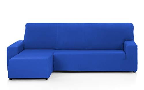 Martina Home Tunez Funda Sofá para Chaise Longue Diseño Moderno, Tela, Azul Eléctrico, 240 a 280 cm