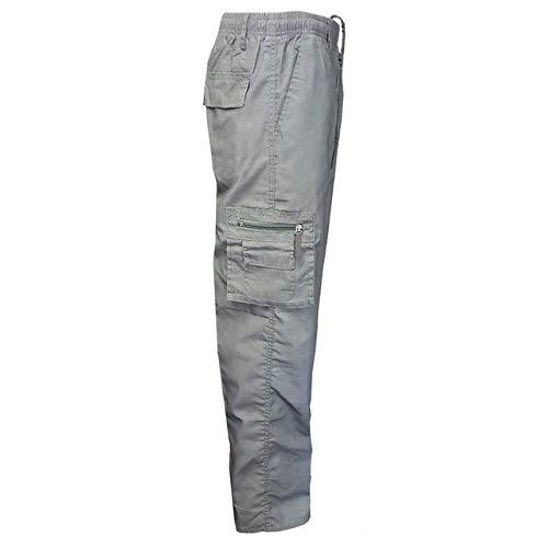 N/ A Mens Moisture Wicking Cargo Fishing Work Taktische Wanderhose Lässige männliche Hose Action Atmungsaktive Outdoor-Hose mit Reißverschlusstasche