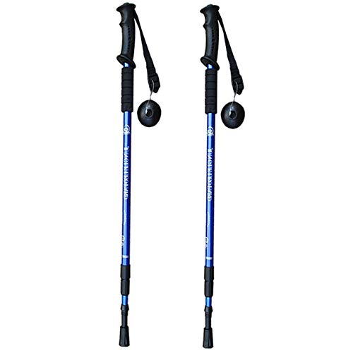 ouying1418 Retractable Anti Shock Walking Sticks Telescopic Trekking Hiking Poles Canes