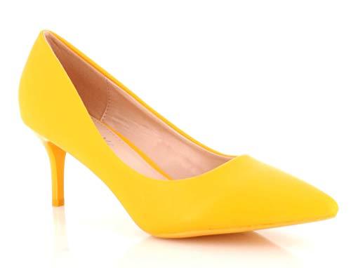 Zapatos amarillo limón de vestir para Mujer