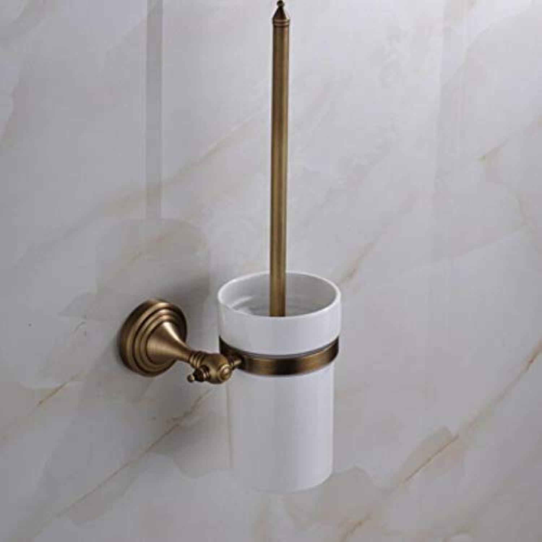 Towel Rack Bathroom Supplies Toilet-Bathroom Antique Brass Toilet Brush Holder Bathroom Accessories Useful Toilet Brush Bathroom Products European Style,C Bathroom Towel Shelf (color   B)
