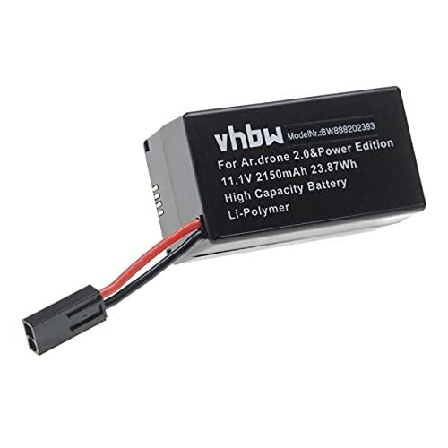 vhbw Batteria Compatibile con Parrot AR.Drone 2.0 Power Edition Drone quadricottero multicottero (2150mAh, 11,1V, Li-Poly)