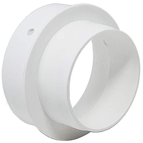 Kair Reductor de conductos de 100 mm a 80 mm Conector de reducción para ventiladores de extracción y unidades de ventilación