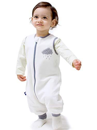 Baby Sleeping Bag 1.5tog Infant Toddle Warm Walking Sleep Sack with Legs Pajamas Unisex White/M