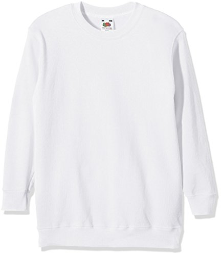 Fruit of the Loom, Sudadera Infantil, Blanco (Weiß - Weiß), 14-15 Años