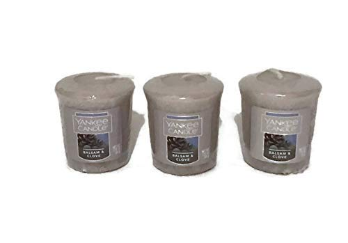 Yankee Candle New Lot of 3 Balsam and Clove Sampler Votive Candles 1.75oz
