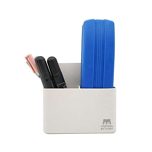 Magnetic Dry Erase Marker Holder, Magnetic Pen Holder Whiteboard Pen Holder Dry Erase Marker and Eraser Organizer,Powerful Neodymium Magnets