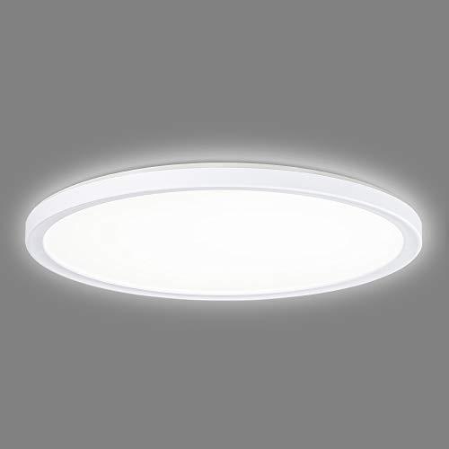 Navaris LED Deckenleuchte mit zusätzlicher Hintergrundbeleuchtung - 22 Watt - 42 x 2,8cm - 4000K - LED Deckenlampe Panel ultra flach rund