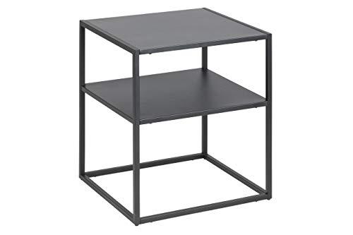 AC Design Nino Nachttisch, schwarz, Metall, B: 45 x H: 50,5 x T: 40 cm, 1 Stück