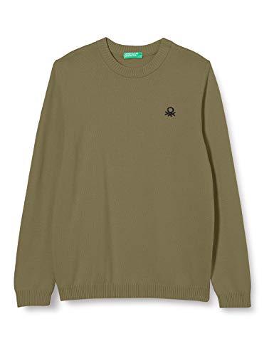 United Colors of Benetton (Z6ERJ) Jungen Maglia G/C M/L Pullover, Deep Lichen Green 34f, L