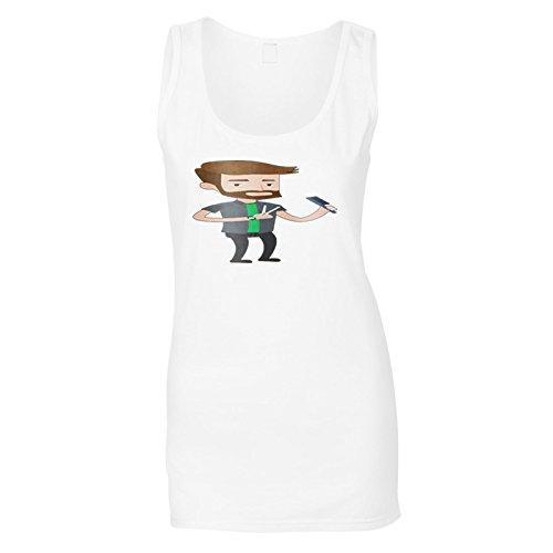 Peluquero Hombre Cortar El Cabello Camiseta sin Mangas Mujer q879ft