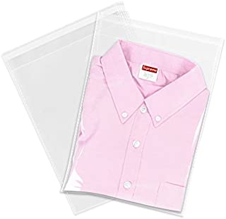 """100 Count - 9"""" X 12"""" Self Seal Clear Cello Cellophane Resealable Plastic Poly Bags - Perfect for Packaging Clothing, Shirts (More Sizes Available)"""