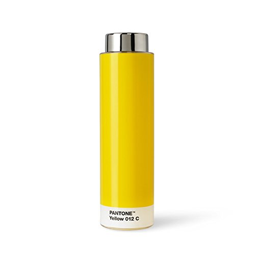 Copenhagen design Pantone Drinking, Tritan (Plastic) Water Bottle, 500 ml, Yellow 012, One Size