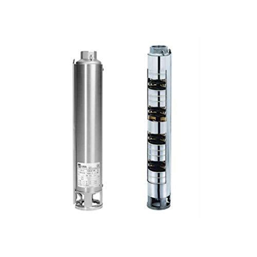 3571150006 Multizelle, vertikale Kreiselpumpe, 4 Zoll, Serie Winner 4N15-6, für Brunnenwasserentnahme mit Außenmantel, aus Edelstahl, 1,5 kW, 2 PS, Grau
