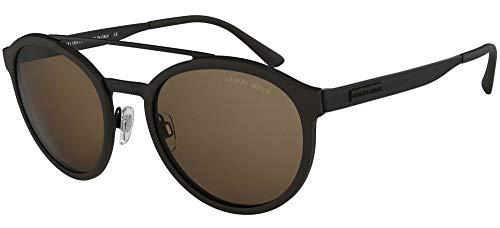 Giorgio Armani 0AR6077 Gafas de sol, Matte Black/Black Rubber, 54 para Hombre