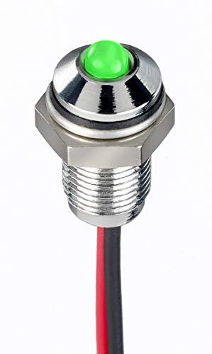 RS PRO LED Tafeleinbau-Anzeige Grün, Erhaben Blende, 21.6 → 26.4V dc / 20mA, 3 mm/Bohrung 6mm, IP67