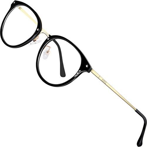 ATTCL Unisex blaulichtfilter brille computerbrille zum Blockieren von UV-Kopfschmerz [Augenbelastung Reduzieren] Gaming Brillen(Herren/Damen) 19702 Gold