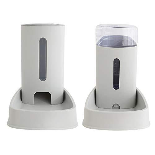 meleg otthon Automatischer Futter und Wasserspender für Katzen und Hunde,Futterautomat und Wasserspender im Set,Hund Schüssel Wassertränke jeweils 3.8 L (New Futterspender und Wassertränke)