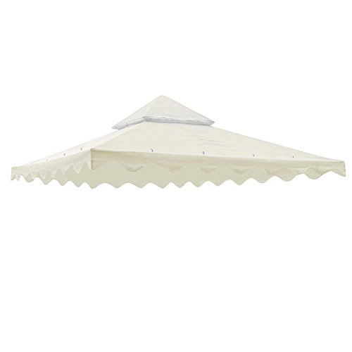 Yescom 10' x 10' Gazebo Patio Canopy Replacement Cover 2 Tier UV30 200g/sqm Top W/Scalloped Valance