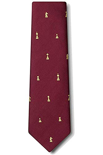 Juego de ajedrez de microfibra Checkmate para hombre, piezas XL, corbata extra larga, corbata