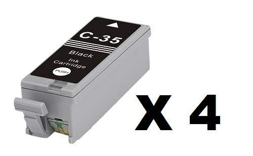 Nu Inkt Ltd 4x ZWART COMPATIBELE PRINTER INK CARTRIDGE VOOR CANON PIXMA IP100, IP110, MINI 260,320. PGI-35BK & CLI-36C