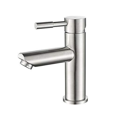 IBERGRIF M11103 Mundo, Einhebel Wasserhahn für Bad, Edelstahl Waschtischbatterie mit Auslauf Höhe 98mm, Matt, Grau