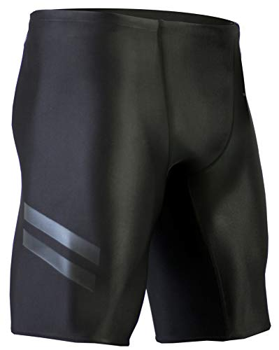 Onvous Mens Raven Compression Racing Swimsuit & Cross-Training Jammer/Shorts (32) Jet Black