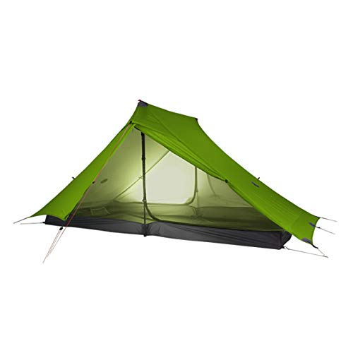 Mdsfe 3F UL GEAR LanShan 2 pro 2 Person Outdoor Ultralight Camping Tent 3 Season Professional 20D Nylon Both Sides Silicon Tent-20D   Green