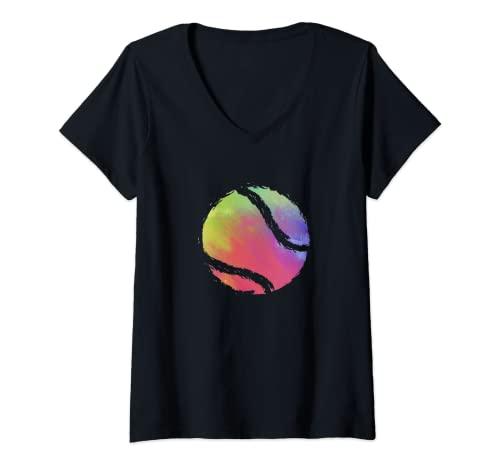 Mujer Tenis Deporte Raqueta - Jugador Tenista Camiseta Cuello V
