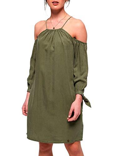 Superdry Eden Cold Shoulder Dress. Robe - Vert - L