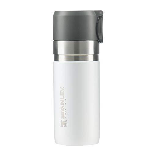 STANLEY(スタンレー) ゴーシリーズ 真空スリムボトル 0.37L ホワイト 保冷 保温 頑丈 水筒 アウトドア 保証 10124-009 (日本正規品)