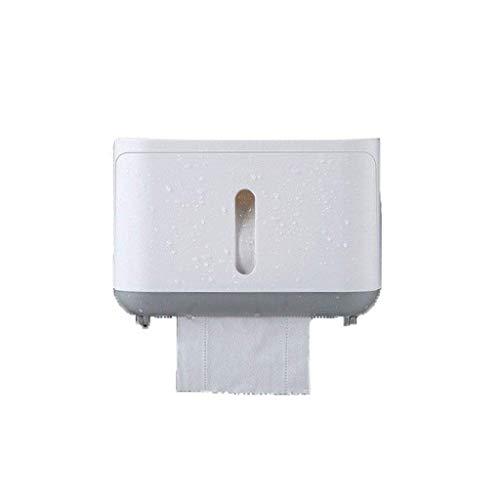 WLVG Soporte para Papel higiénico, Soporte para Papel higiénico para Montaje en Pared, Caja para estantes, Bandeja para Papel higiénico a Prueba de Agua, Rollo de Papel, Caja de Almacenamiento, o