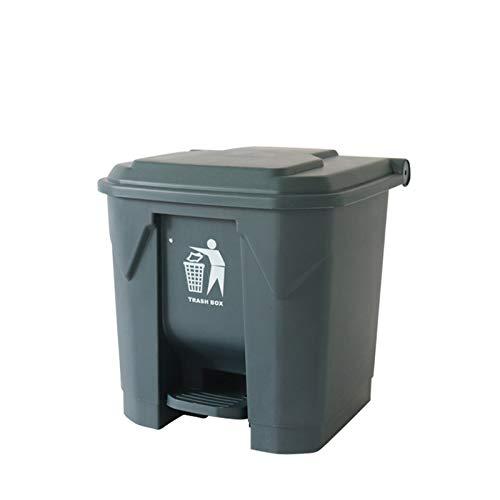 Outdoor trash can Chang-S-Q-123 Papelera De Reciclaje De Basura Gris, 30-100L Basura Al Aire Libre De La Fábrica Community Street Park Plastic Basura De Basura Pedal Tipo Dustbin(Size:30L,Color:Gris)