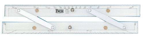 Weems Plath Marine Navigation Parallel Ruler Aluminum Arms 15 Inch